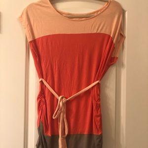 Liz Lange Maternity, tri-colored tunic top